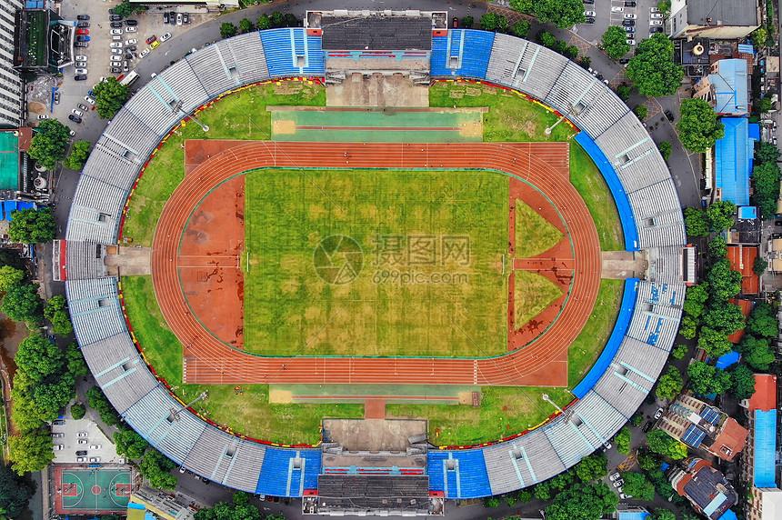 俯瞰武汉新华路足球场图片
