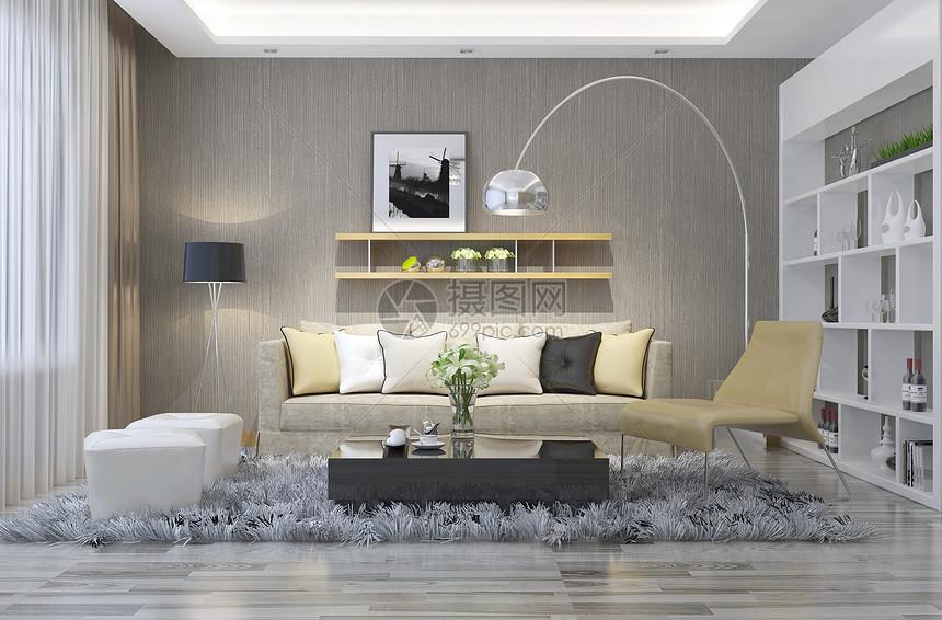 现代简约沙发客厅图片