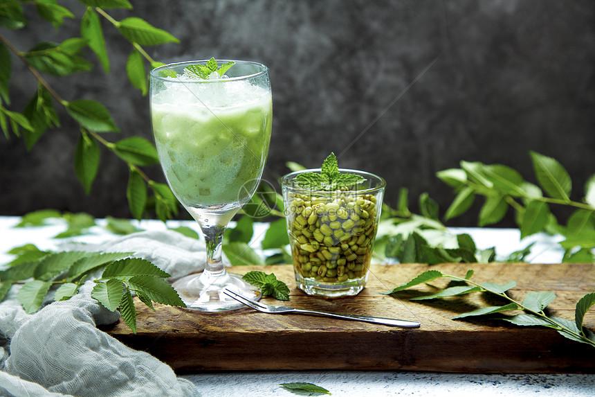 绿豆冰沙图片