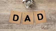 父亲节DAD字母图片