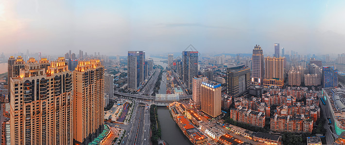 俯瞰武汉楚河汉街全景长片图片