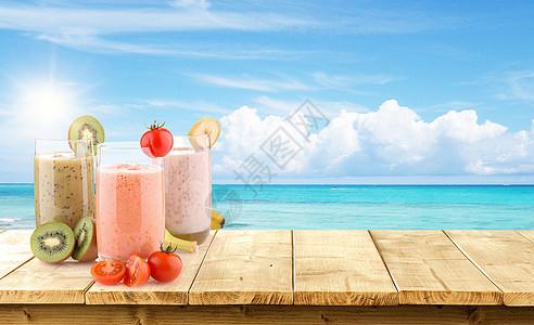 饮料夏天背景图片