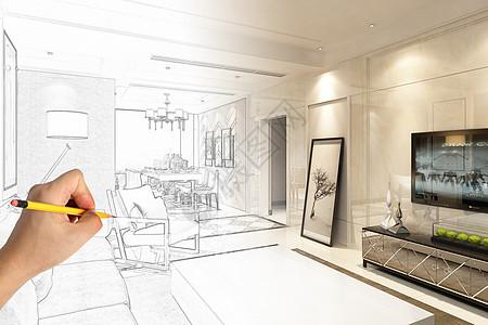 家装手绘效果图图片