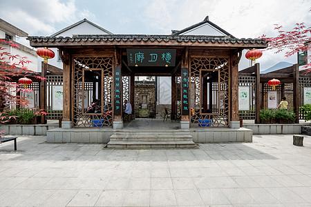 龙门古镇楼月廊图片