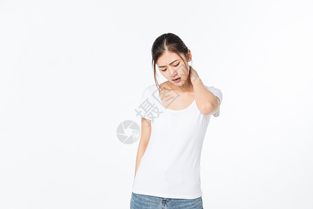 生病疼痛的女孩图片