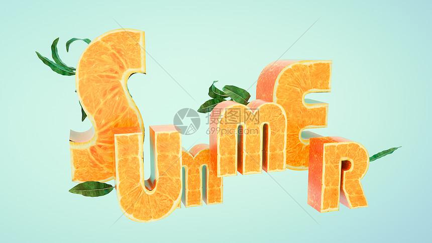 创意果橙背景图片
