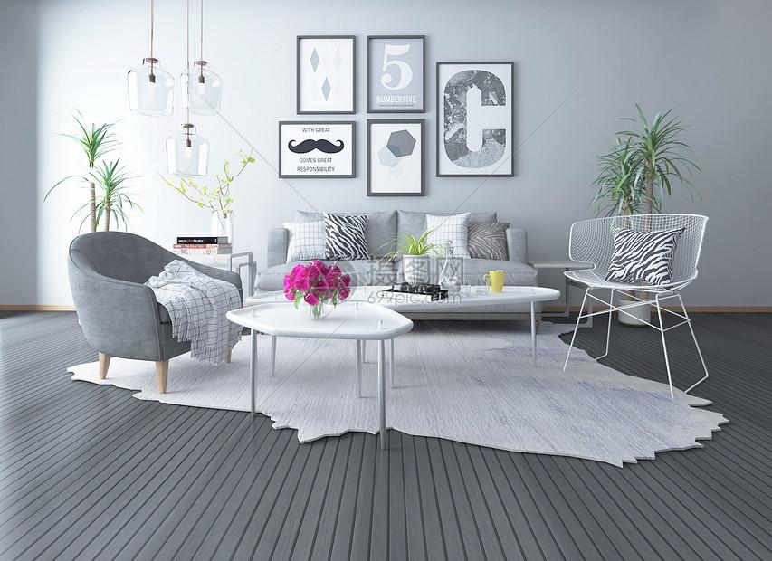 美式loft风格室内家具图片