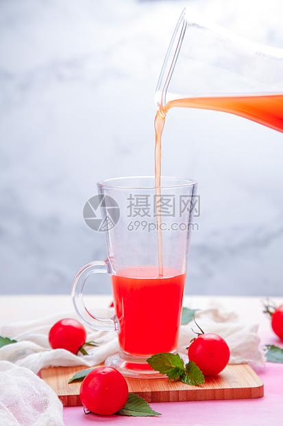 新鲜果汁番茄汁图片