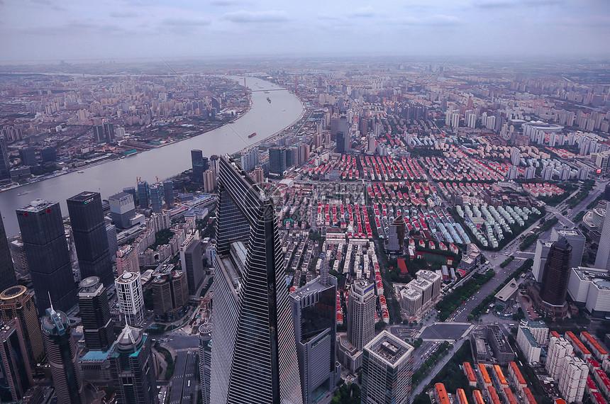 上海市浦东新区俯瞰图片