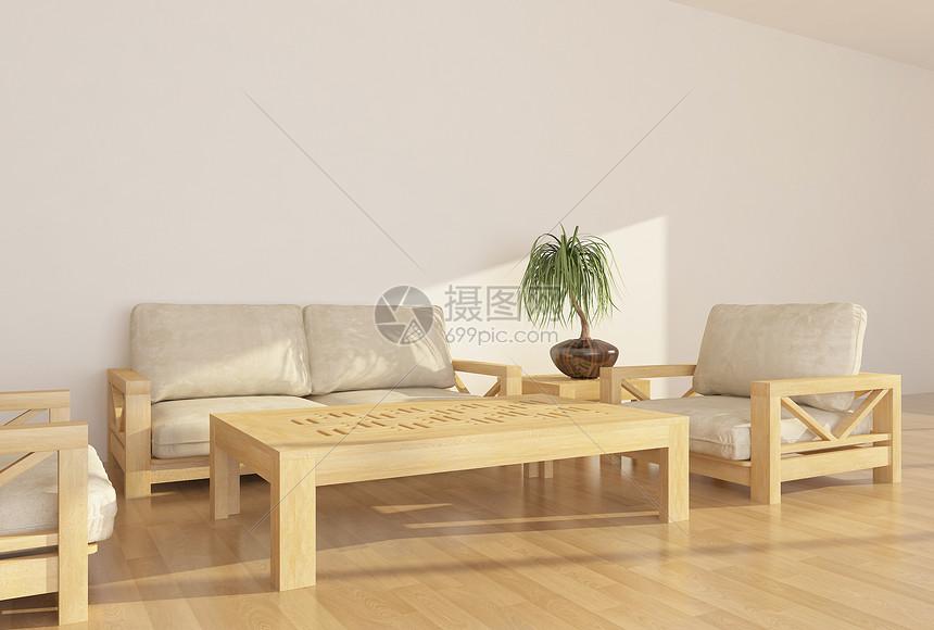 现代简约沙发单椅组合图片