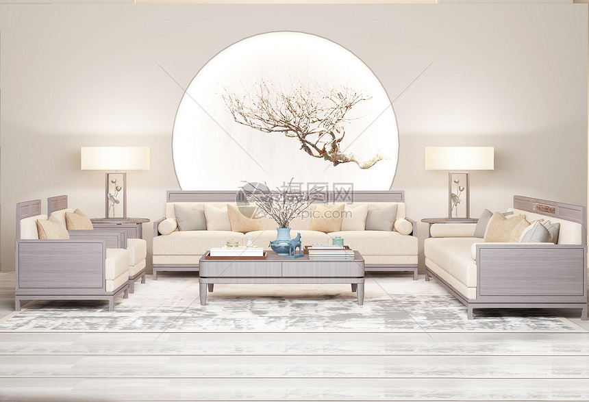 新中式简约室内家居图片