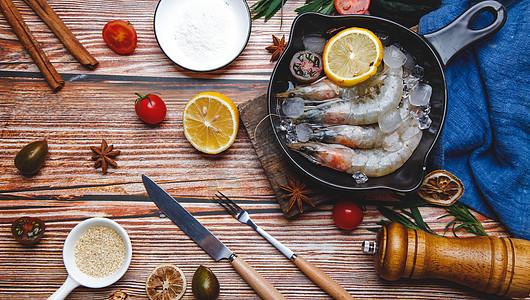 对虾食材图片