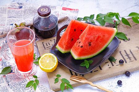 冰爽夏季水果甜品图片