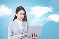 云计算概念与业务网络图片