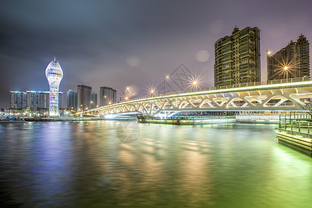 上海滨江雨夜图片