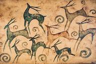 复古壁画图案图片