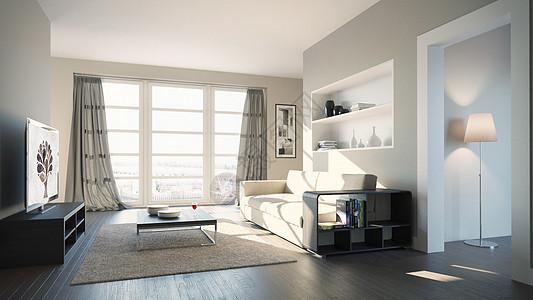 现代沙发效果图图片