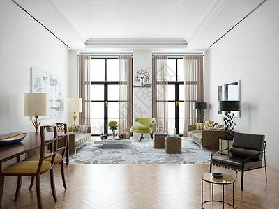 后现代客厅效果图图片