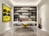 现代书房书柜效果图图片