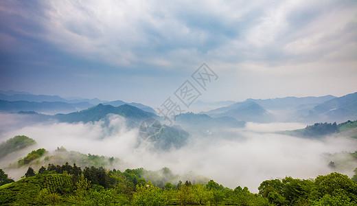石潭云海图片
