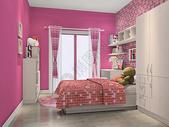儿童温馨卧室场景图片