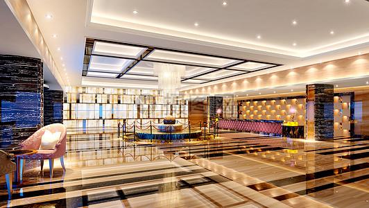 漂亮的酒店大堂效果图片
