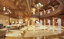 大气的欧式酒店大堂效果图片