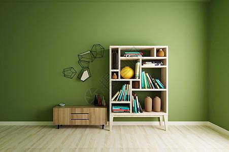 高清室内书柜效果图图片