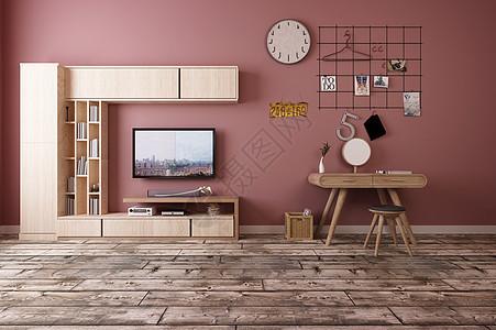 暖色墙体背景墙效果图图片