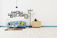 现代白色墙体背景墙图片