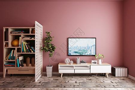 高清室内电视柜背景墙图片