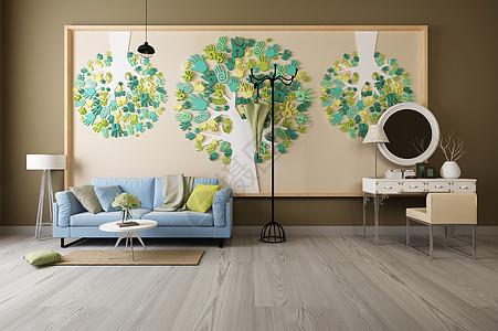 现代沙发背景墙图片