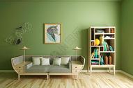 现代清新沙发背景墙图片