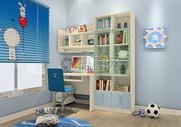 现代儿童房书柜效果图图片