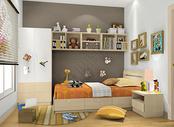 儿童房床品组合效果图图片
