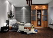 简约卧室背景图片