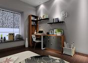 实木书桌组合背景图片