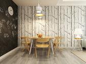 北欧餐厅效果图图片