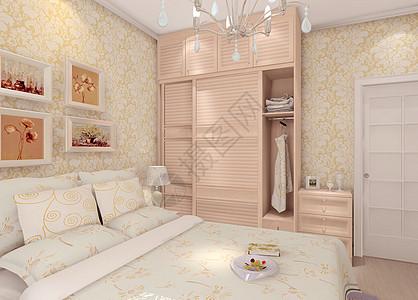 现代卧室衣柜效果图高清图片
