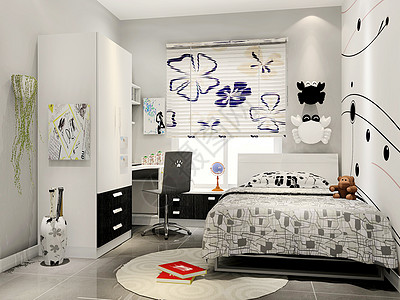 现代主卧室场景图片