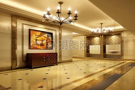 豪华酒店大堂场景图片