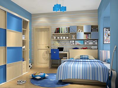 现代儿童房场景图片