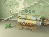 温馨客厅多层建筑效果图图片