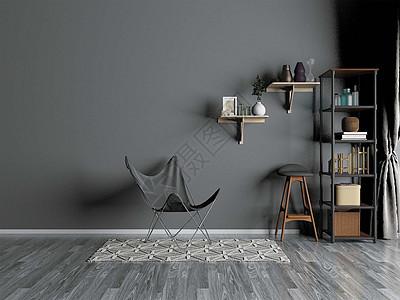 灰色系室内家具图片