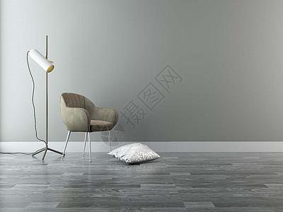 简约单椅台灯组合图片