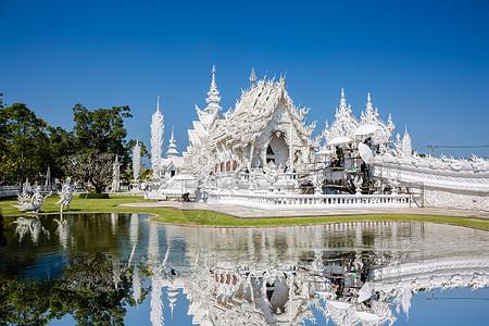 泰国泰国清莱灵光寺白庙图片