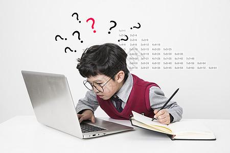 孩子学习的困扰图片