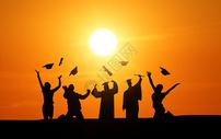 毕业季剪影图片
