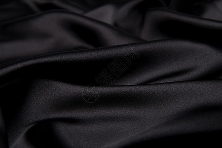 黑色丝绸背景素材图片