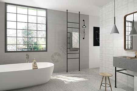 北欧卫浴空间设计图片